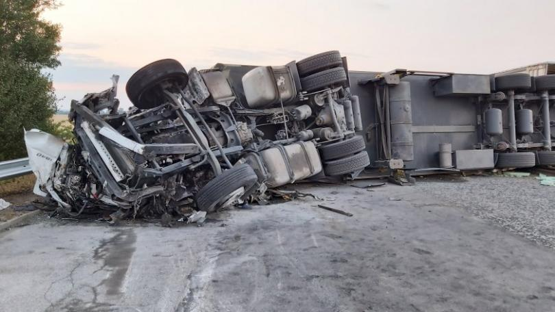 Шофьорът на ТИР-а е петата жертва на инцидента на АМ Тракия