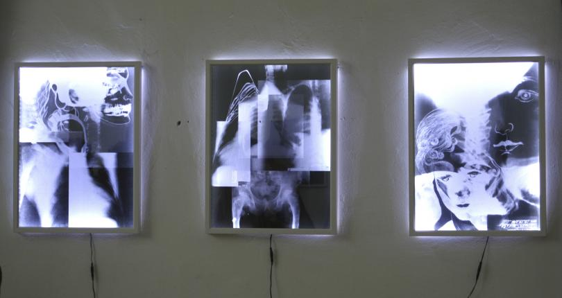 ,,Broken'' Cliché-verre, silver print Lightbox 2014