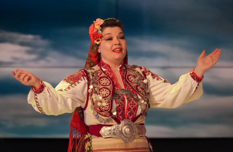 Народната певица от ансамбъл Пирин Димана Боянова