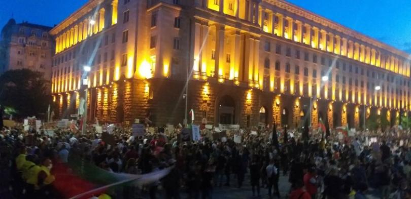 Eighth night of anti-government protest in Sofia