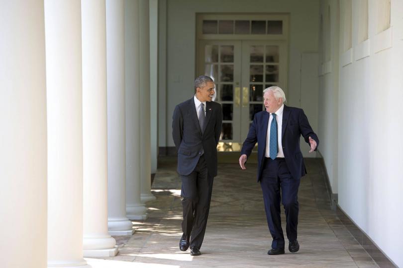 Среща на Дейвид Атънбъро с президента Обама