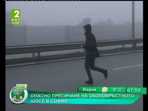 Опасно пресичане на околовръстното шосе в София
