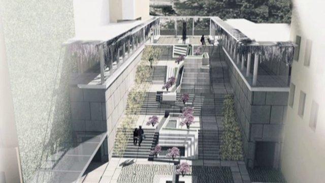 Нов облик на стълбите към Сахат тепе в Пловдив