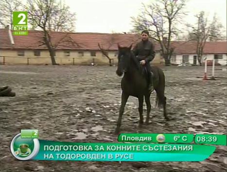 Подготовка за конните състезания на Тодоровден в Русе