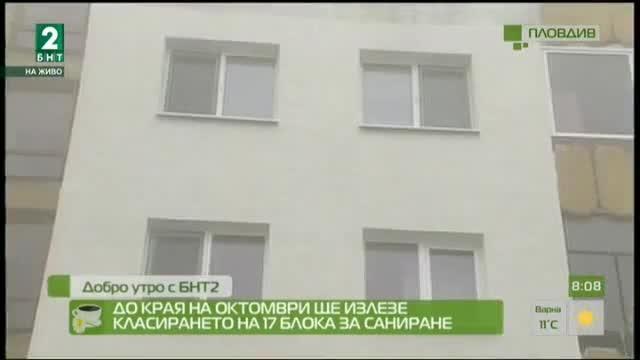 До края на октомври ще излезе класирането на 17 блока за саниране в Пловдив