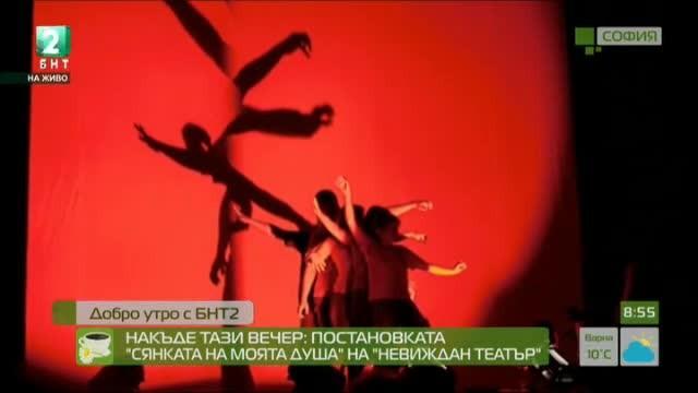 Постановката Сянката на моята душа на Невиждан театър