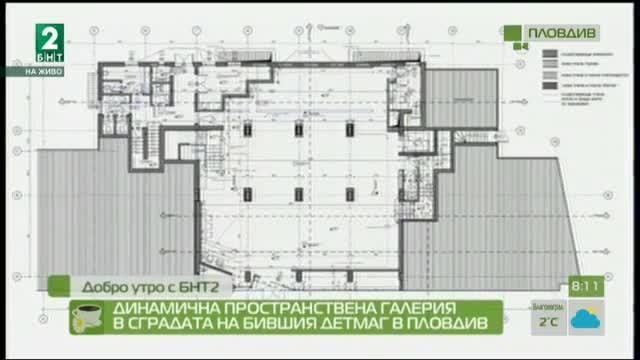 Динамична пространствена галерия в сградата на бившия Детмаг в Пловдив