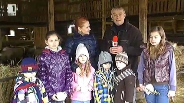 Градски деца на гости във ферма в село Разлив
