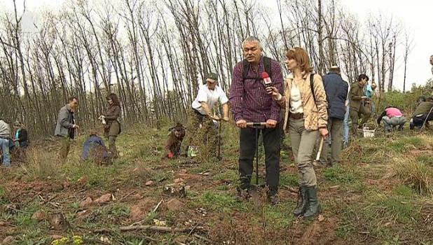 Залесяване в Седмицата на гората