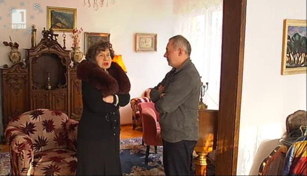 Стоянка Мутафова за копнежа по селото  в Бразди - 27.12.2014