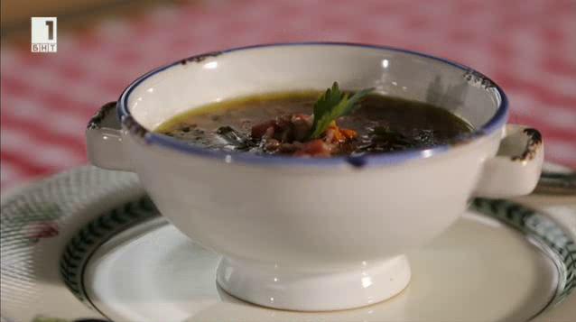 Супа с ориз и шунка