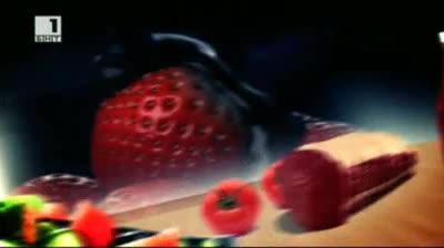 Бързо, лесно, вкусно - пюре от ягоди, замразен мус с ягоди и галет с ягоди