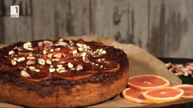 Обърнат кейк с грейпфрут