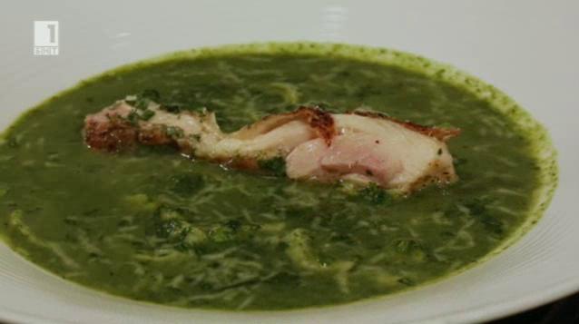 Зелено минестроне с пилешко