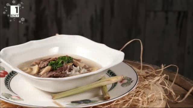Патешка супа с ориз и гъби