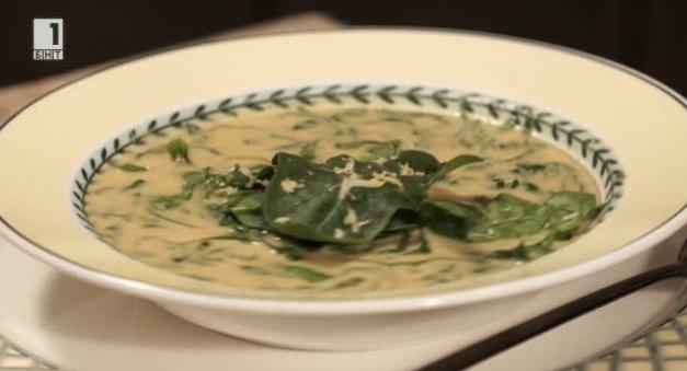 Лимонова супа с къри и лук