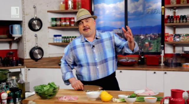 Супа с червена леща, спанак и пилешко бутче на барбекю - Бързо, лесно, вкусно - 20 май 2014