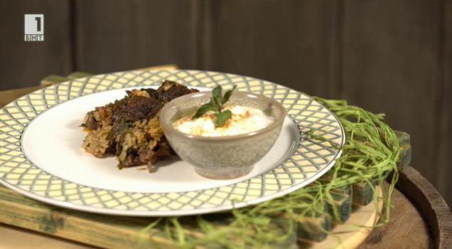 Сарма-кебап с ориз и агнешко