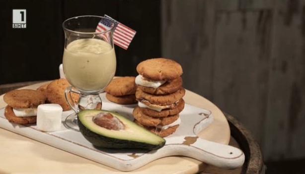 Фъстъчени бисквити и бананово смути