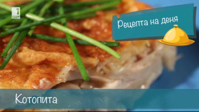Бързо, лесно, вкусно - 28 октомври 2014: Котопита - гръцка баница с пиле