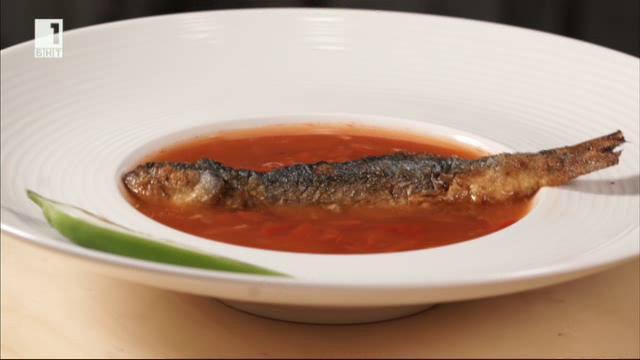 Рибена саламура с царевично брашно