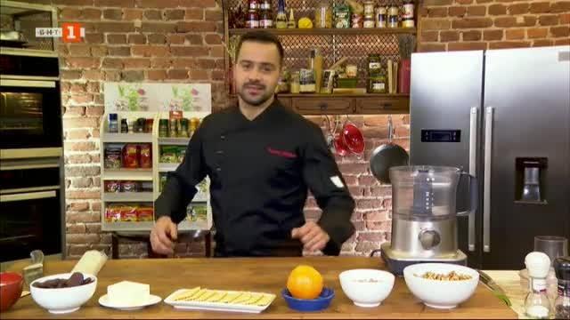 Интерпретация на турска баклава и пролетни рулца с пилешко