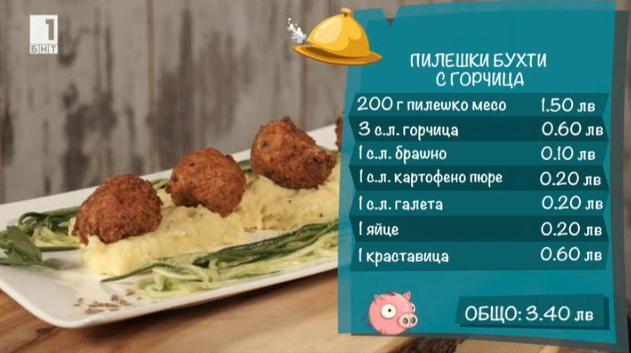 Пилешки бухти с горчица