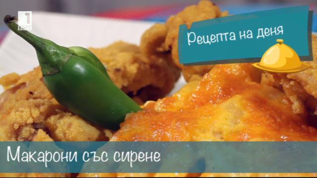 Бързо, лесно, вкусно - 11 ноември 2014: Макарони със сирене и пържени крилца