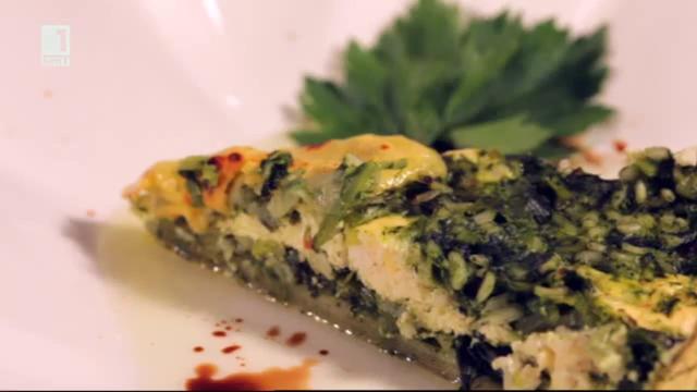 Бързо, лесно, вкусно - 15 октомври 2014: Зелен пай с ориз