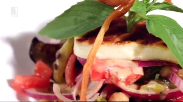Бързо, лесно, вкусно - 22 октомври 2014: Есенна салата с леща и сирене халуми