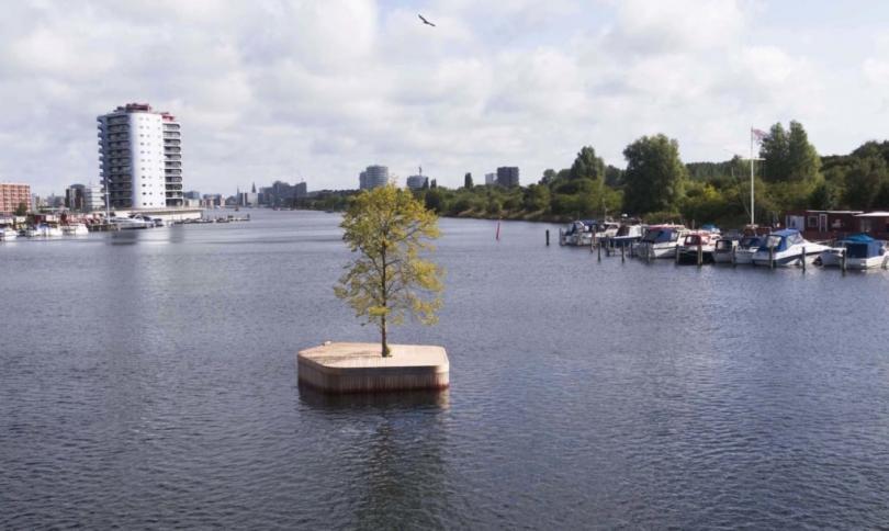 Дървен остров поставя началото на паркопелаг в Копенхаген