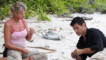 Един мъж и една жена в пустошта