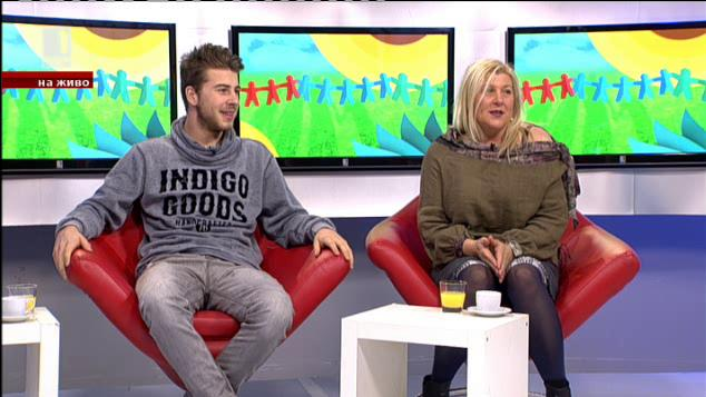 Семейно утро: актрисата Албена Михова и синът й Мартин