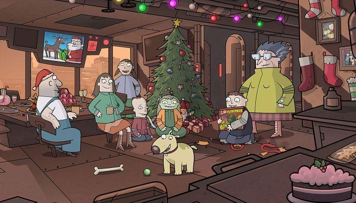 Космически кораб Догстар - Коледа в космоса