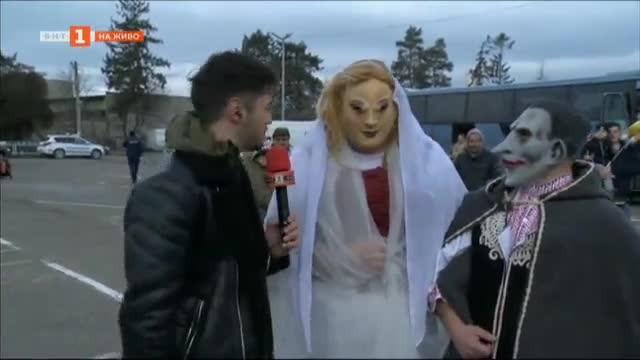 На гости у Шопско - на живо от кукерския фестивал в Елин Пелин