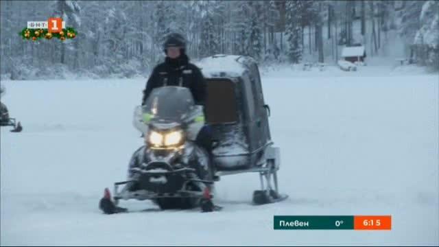 Разходка в Лапландия с електрически снегомобил