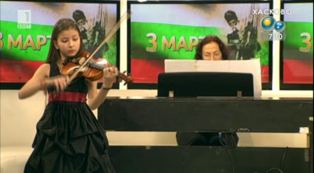 Малката цигуларка Лора Маркова в Денят започва