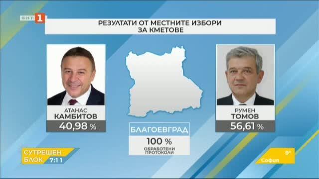 Резултати от Благоевградска област и изборни сюжети в Гърмен