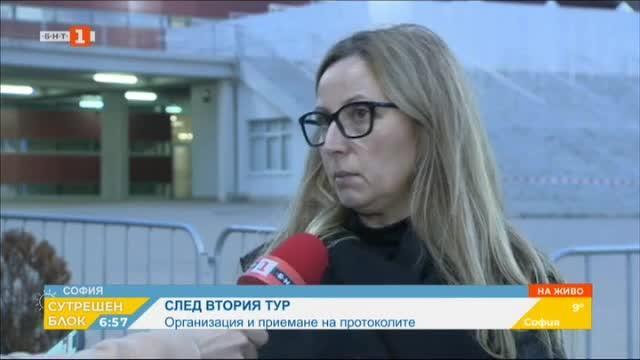 Полина Витанова - председател на ОИК-София за приемането на протоколите