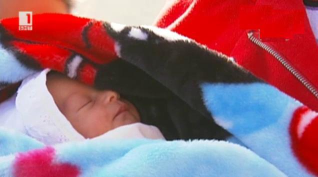 Първо бебе в Центъра за бежанци в кв. Враждебна
