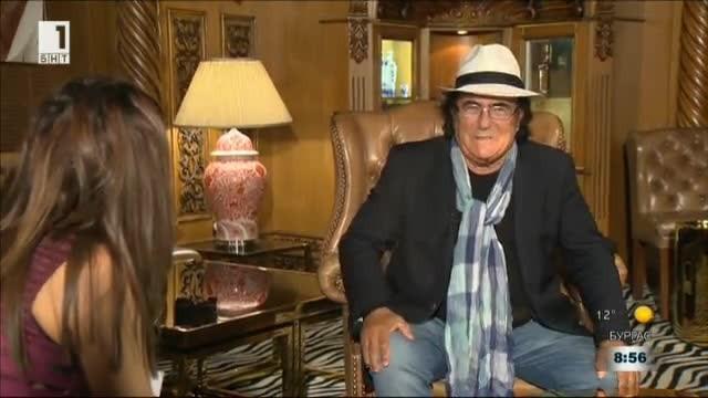 Ал Бано с интервю за БНТ преди концерта му в НДК