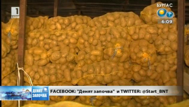 Български картофи залежават по складовете