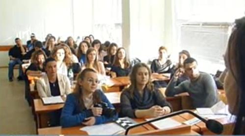 Студентите от УНСС за филма на БНТ Четвърта власт