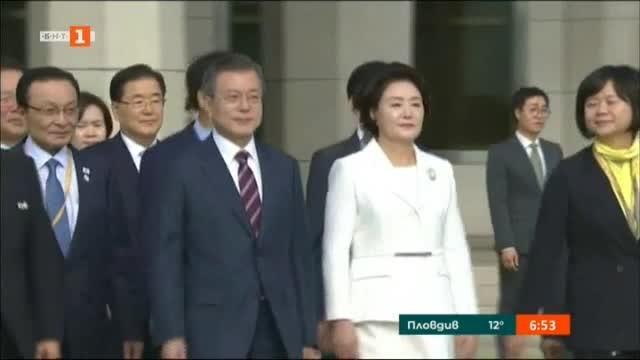 Лидерите на Северна и Южна Корея се срещнаха в Пхенян