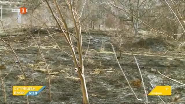 Зачестяват случаите на палене на сухи треви и боклуци