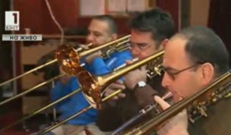 Оркестърът на МВР репетира за коледен концерт