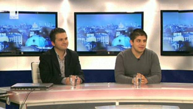 Лицата на българската олимпийска телевизия: Петър Иванов и Евгени Николов