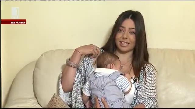 На живо: бебе в дома! Карина Караньотова и малкият Иво