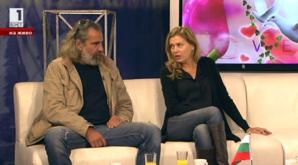 Арт семейство: Андрей Слабаков и Ернестина Шинова в утрото на БНТ
