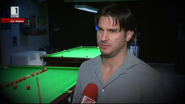 Велизар Димитров – между масата за снукър и футболното игрище